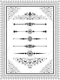 ornament set set of vector ornaments scrolls repeating borders
