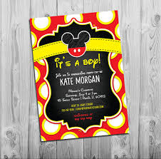 mickey mouse baby shower invitations mickey mouse baby shower invitations boy baby shower