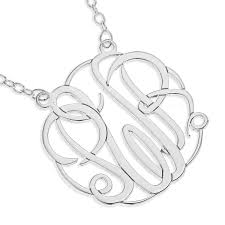 three initial monogram necklace three initial monogram necklace couturie