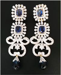 diamond earrings india chandelier earrings india 3 25 ct gold b sapphire wedding