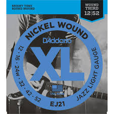 light electric guitar strings d addario ej21 electric guitar strings jazz light 12 52 at