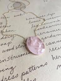 gold rose quartz necklace images Rose quartz pendant necklace on 14k gold fill or sterling silver jpg