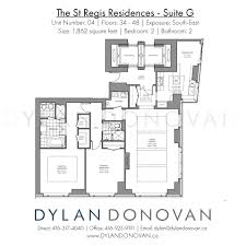 the st regis residences floor plans luxury condos dylan donovan