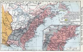 13 Colony Map North America Maps