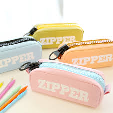 pencil boxes students creative canvas big zipper stationery letter design