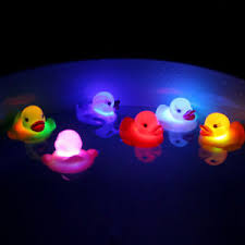 tub light flashing led flashing light rubber floating duck with bath tub shower toy for