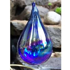 glass ornament teardrop northwestglass designs