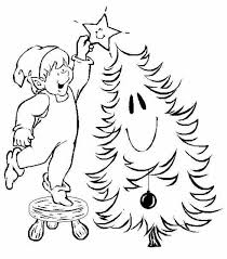 christmas elf coloring pages free christmas coloring pages of