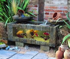 small outdoor water features sea chest aquarium for patios