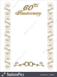 60th anniversary invitations cards and posters 60th anniversary invitation border stock