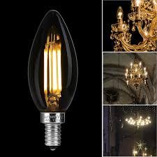 Led Bulbs For Chandelier Candelabra Led Bulbs Luminwiz 4w 2700k E12 Base Led Filament