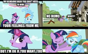 Mlp Rainbow Dash Meme - oh rainbow dash you don t need to hide your feelings from me no