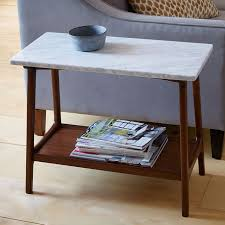 west elm accent table reeve mid century side table marble west elm