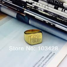 Monogram Gold Ring Compare Prices On Monogram Gold Ring Online Shopping Buy Low