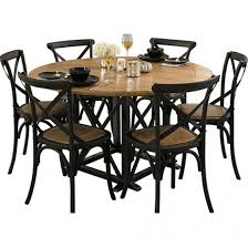 french provincial dining room furniture provincial oak round table black with 6 cross back chairs black