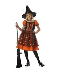 wizard costume child pretty pumpkin witch kids halloween costume