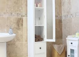 Slim Bathroom Cabinet Stunning Tall Mirrored Bathroom Cabinet Bathroom White Gloss Slim