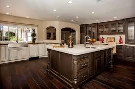 Rubberwood Kitchen Cabinets Kitchen With Dark Floors Picgit Com
