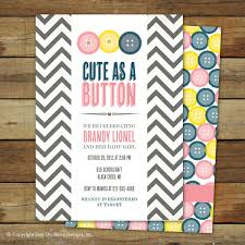 cute as a button baby shower invitation baby matching back