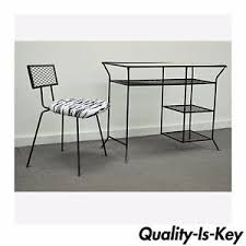 Modern Desk Ls Vintage Mid Century Modern Wrought Iron Vanity Desk Chair Hairpin