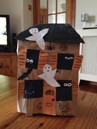paper bag haunted house halloween craft halloween pinterest