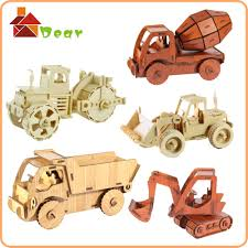 Making Wooden Toy Trucks by Aliexpress Com Buy Educational Car Puzzle Diy Wooden Toy Trucks