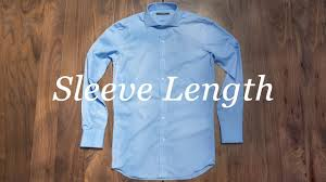 how to measure your shirt sleeve length youtube
