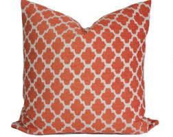24x24 Decorative Pillows Orange Throw Pillow Etsy
