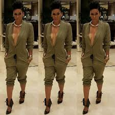 plus size womens jumpsuits fall rompers for sleeve fashion plus size