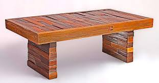 handmade coffee table rustic charm reclaimed redwood coffee table the alternative