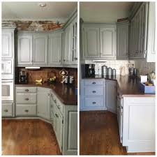 Resurfacing Kitchen Cabinets Before And After White Painted Kitchen Cabinets Before After Caruba Info