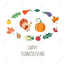 vector thanksgiving set autumn harvest and thanksgiving symbols