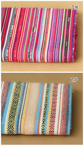 Rainbow Home Decor by Bohemian Style Rainbow Stripe Polyester Cotton Fabric Upholstery