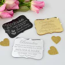 wedding place cards engraved acrylic wedding place cards with magnet personalized favors