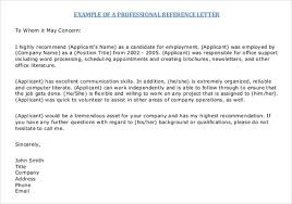 sample reference letter template for employment the letter sample