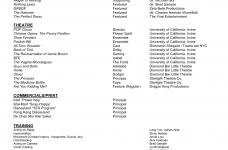 Plain Resume Template Theatre Resume Template Word Jospar