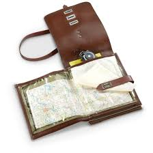 Brown Bags With Clear Window 3 New East German Military Surplus Map Cases 637639 Map Cases