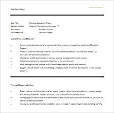 9 marketing director job description templates u2013 free sample