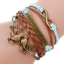 love charm leather bracelet images Multi layer leather charm bracelets for women more great finds jpg