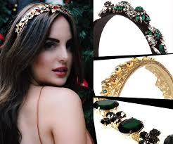 jewelled headband gilded goddess caviar