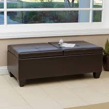 sofa black leather ottoman leather tufted ottoman square storage