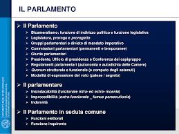 parlamento seduta comune slide parlamento italiano docsity