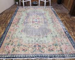 Over Dyed Distressed Rugs Green Overdyed Rug Etsy