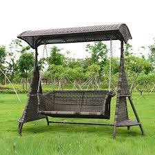 hammock bench 2 person wicker garden swing chair outdoor hammock patio leisure