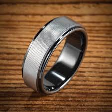 mens black wedding rings black zirconium wedding bands wedding rings men s rings by