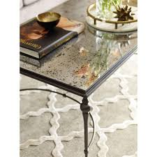 coffee table oval glassee table cairo top with silver metal