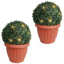 flower pot solar light amos 20 led solar powered artificial boxwood buxus bush topiary
