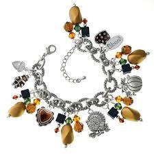 green gold thanksgiving day charm bracelet