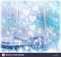 festive romantic table setting christmas eve in restaurant white