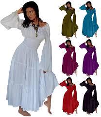 long sleeve with pom pom mexican peasant boho gypsy wedding dress